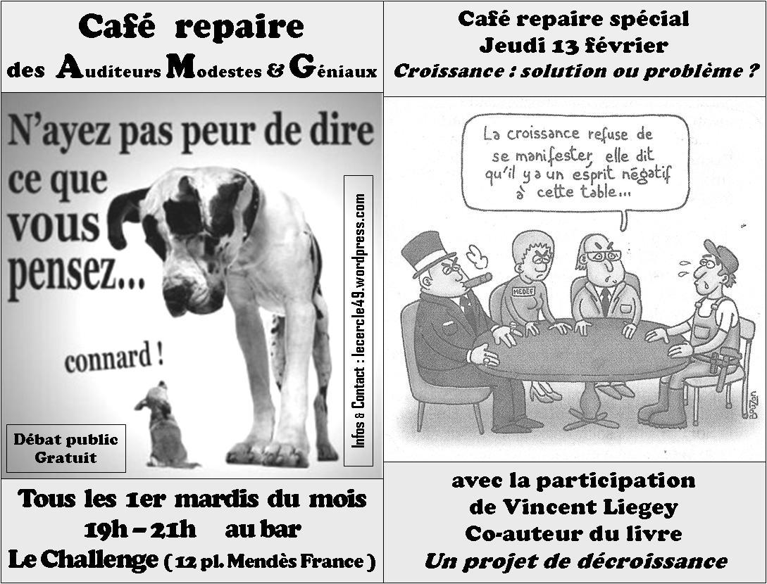 Cafe repaire jeudi 13 février - Liegey